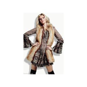 NEW Sanctuary Rockin Natalie Faux Fur Vest